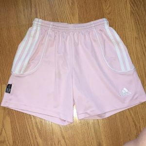 Girls pink Adidas shorts